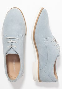 Anna Field - LEATHER FLAT SHOES LACE-UPS - Lace-ups - light blue - 3
