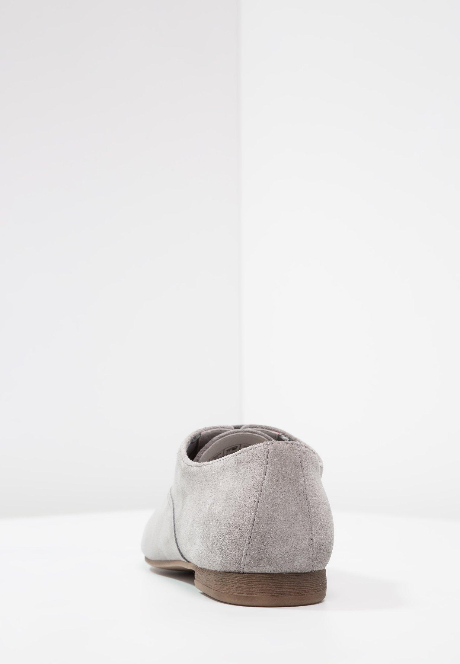 Anna Field LEATHER LACE-UPS - Oksfordki - grey