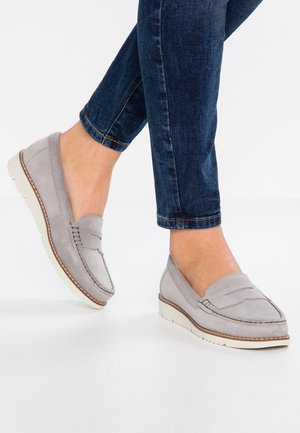 LEATHER MOCCASINS - Moccasins - grey