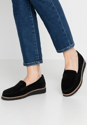 LEATHER MOCCASINS - Mokasíny - black