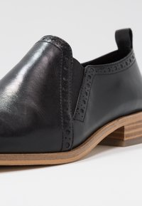 Anna Field - LEATHER SLIP-ONS - Slippers - black