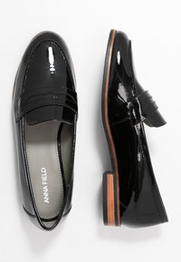 Anna Field - LEATHER SLIP-ONS - Slip-ons - black - 3