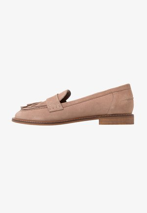 LEATHER SLIPPERS - Loafers - nude