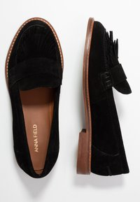 Anna Field - LEATHER SLIPPERS - Slip-ons - black - 3