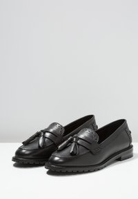 Anna Field - LEATHER SLIP-ONS - Slippers - black - 4