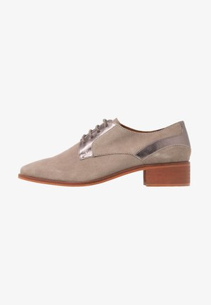 LEATHER LACE-UPS - Veterschoenen - grey