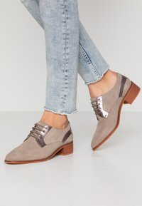 Anna Field - LEATHER LACE-UPS - Derbies - grey - 0