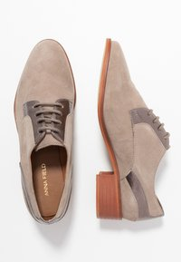 Anna Field - LEATHER LACE-UPS - Derbies - grey - 3