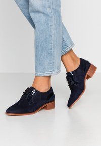 Anna Field - LEATHER LACE-UPS - Derbies - dark blue - 0