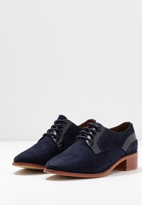 Anna Field - LEATHER LACE-UPS - Derbies - dark blue - 4