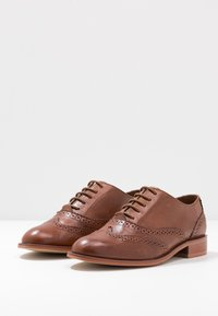 Anna Field - LEATHER LACE-UPS - Lace-ups - cognac - 4