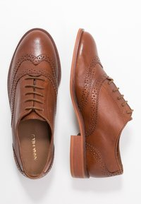 Anna Field - LEATHER LACE-UPS - Lace-ups - cognac - 3