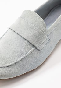 Anna Field - LEATHER SLIPPERS - Slip-ons - light blue - 2