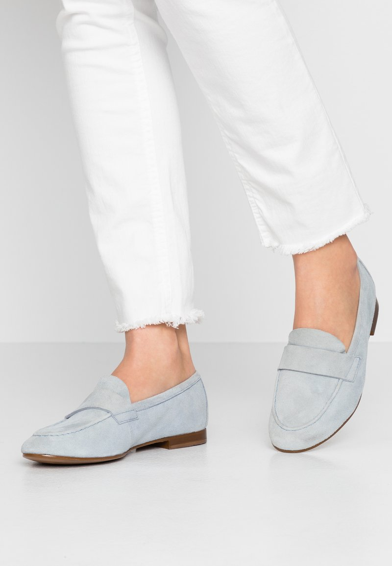 Anna Field - LEATHER SLIPPERS - Slip-ons - light blue