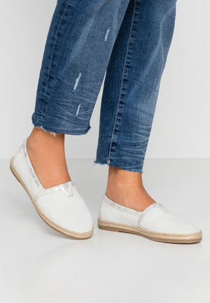 LEATHER ESPADRILLES - Espadrilles - grey