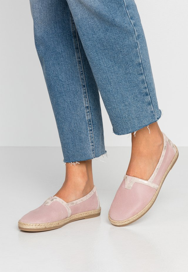 LEATHER ESPADRILLES - Espadrilles - rose