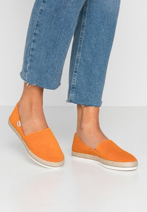 LEATHER ESPADRILLES - Espadrillot - orange