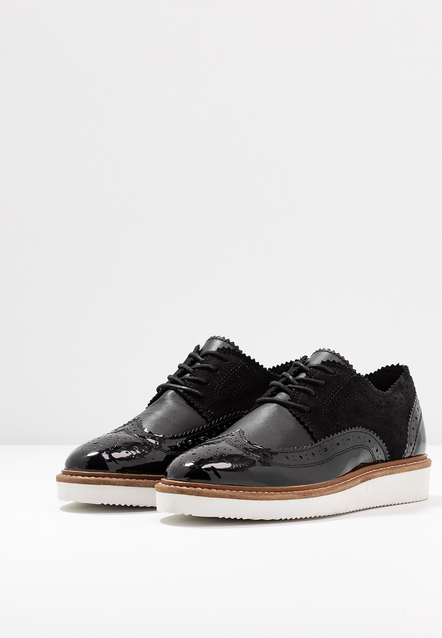 Anna Field LEATHER LACE-UPS - Derbies - black