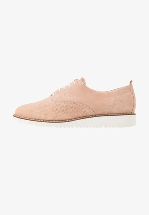LEATHER LACE-UPS - Snøresko - salmon