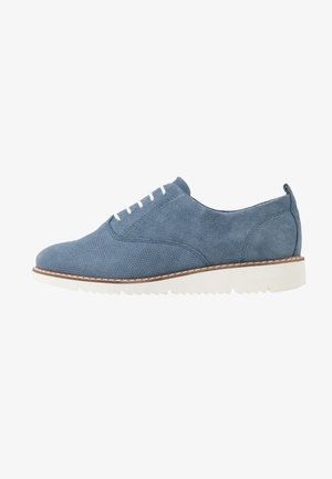 LEATHER LACE-UPS - Derbies - blue