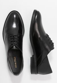 Anna Field - LEATHER LACE-UPS - Derbies - black - 3