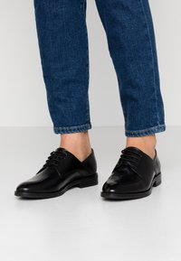 Anna Field - LEATHER LACE-UPS - Derbies - black - 0