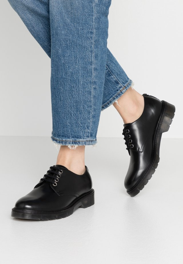 LEATHER - Lace-ups - black