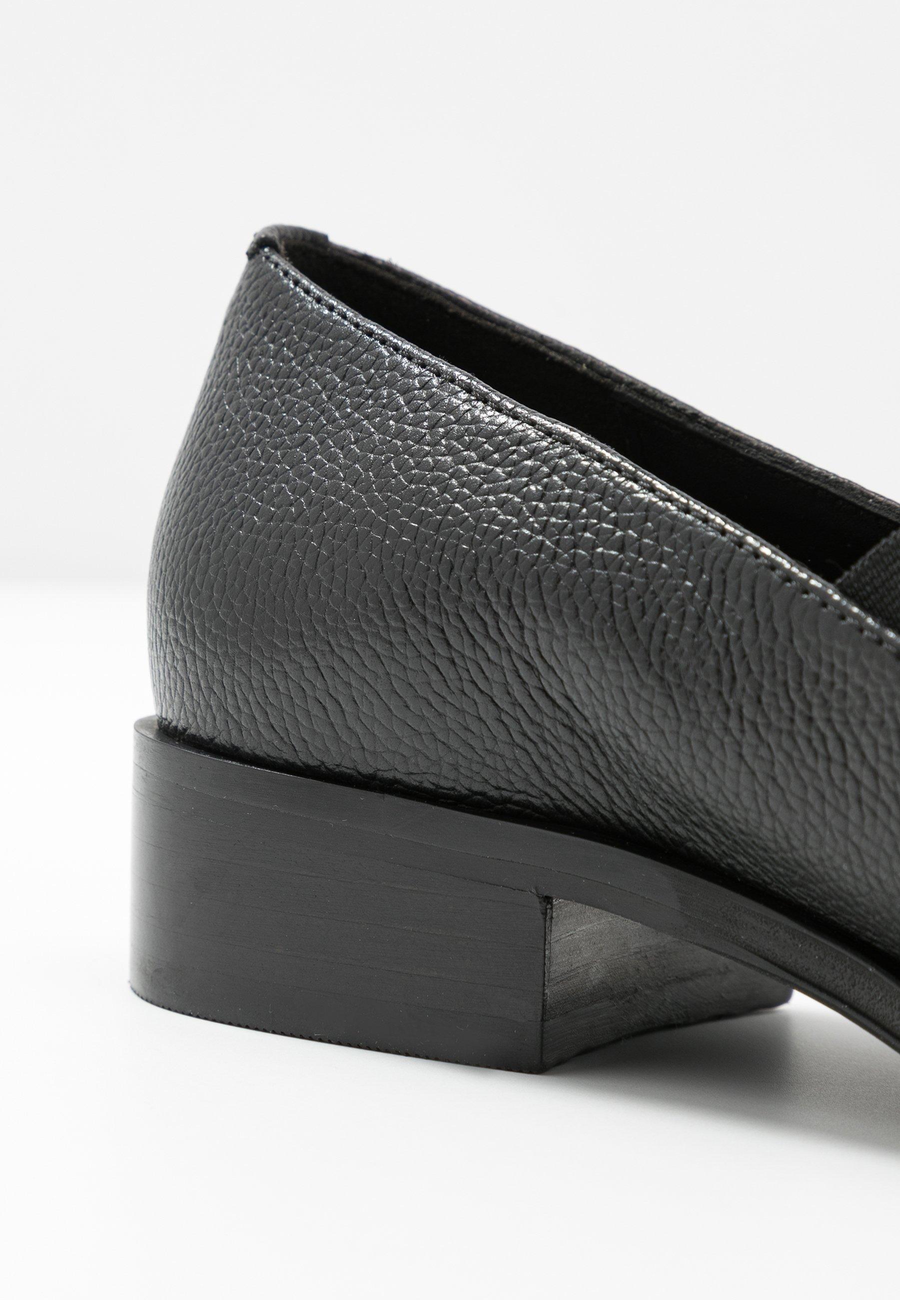 Anna Field Leather Slip-ons - Instappers Black Goedkope Schoenen