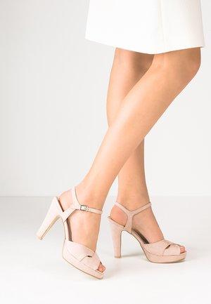 High heeled sandals - soft pink