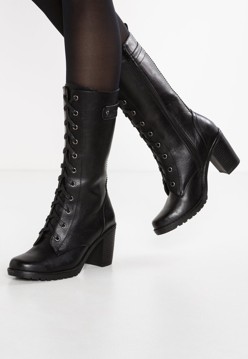 Anna Field - Bottes à lacets - black