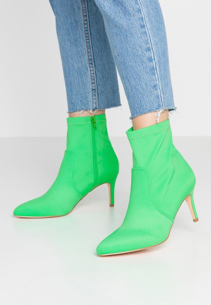 Anna Field - Kotníkové boty - neon green