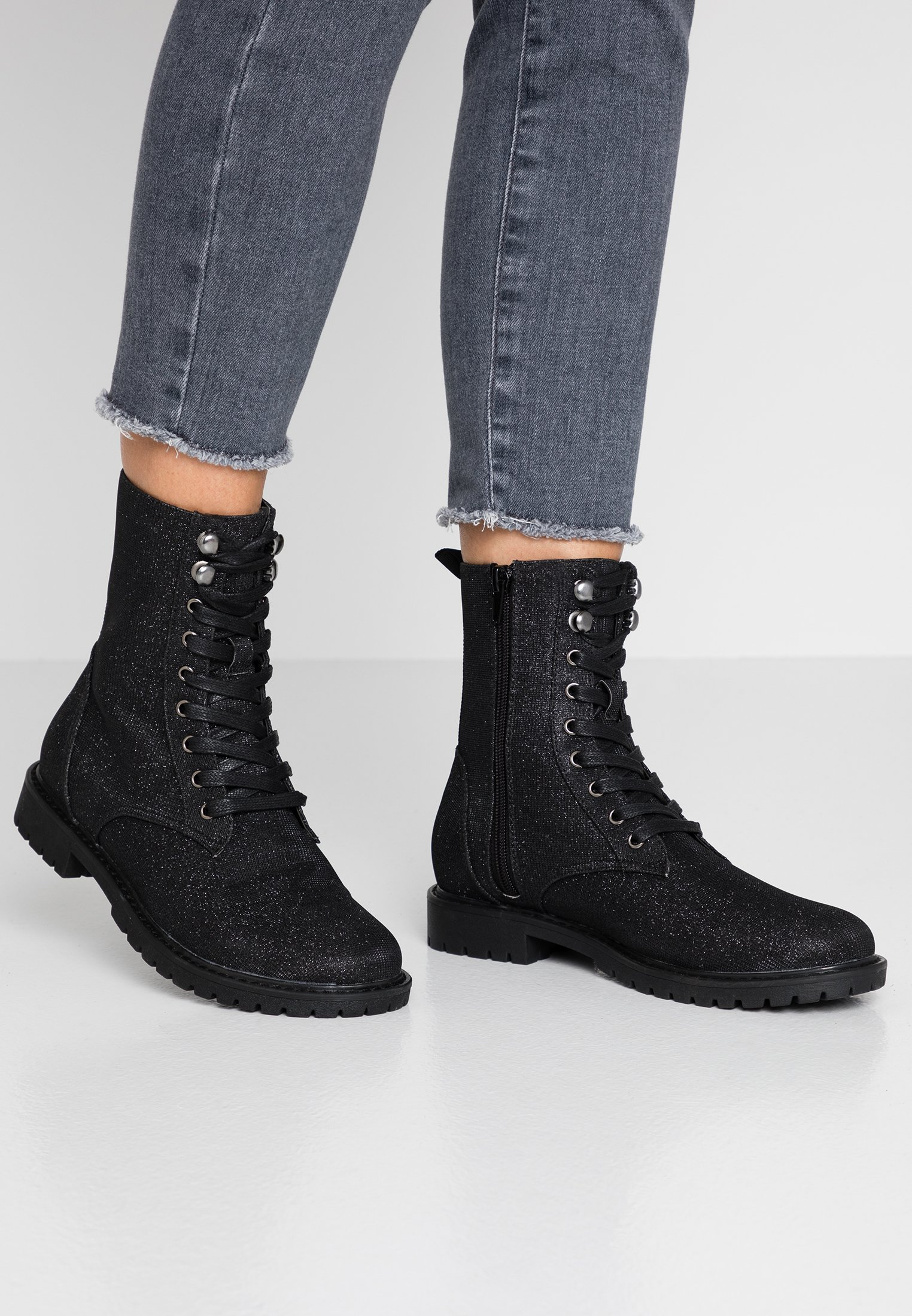 Anna Field Bottines à lacets black