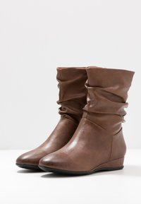Anna Field - Wedge Ankle Boots - cognac - 4
