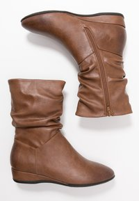 Anna Field - Wedge Ankle Boots - cognac - 3