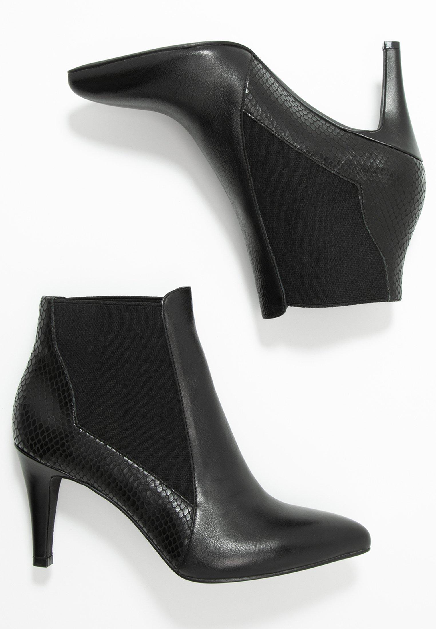 Anna Field Leather Booties - Stivaletti Black VYp6ITH