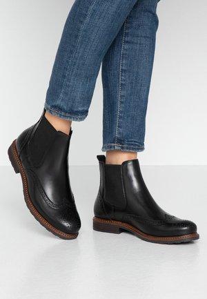 LEATHER CHELSEAS - Korte laarzen - black