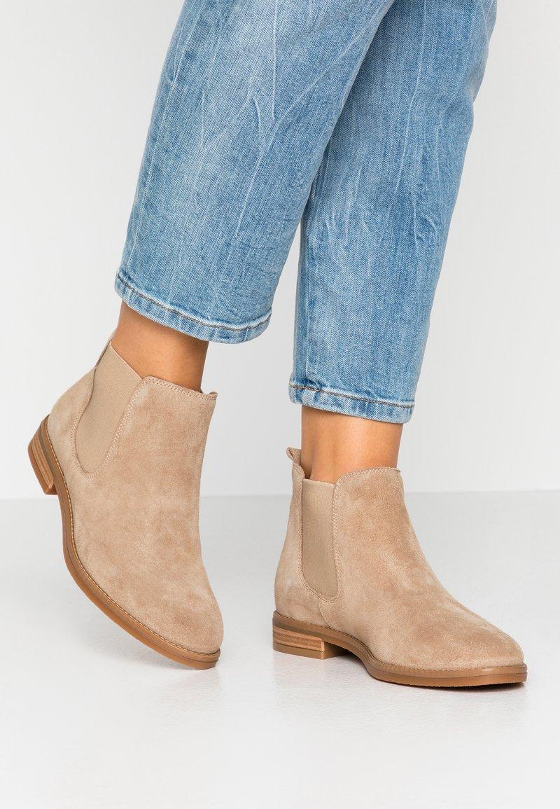 Anna Field - LEATHER CHELSEAS - Boots à talons - beige