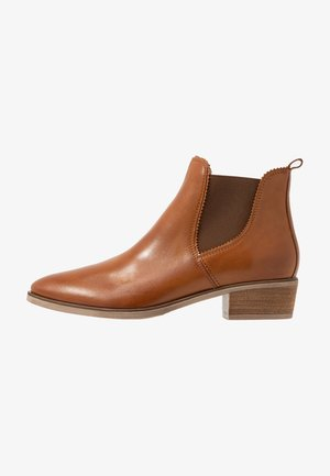 LEATHER CHELSEAS - Boots à talons - cognac