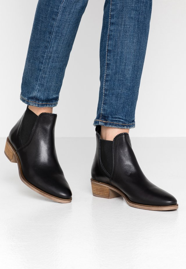 LEATHER CHELSEAS - Ankle Boot - black
