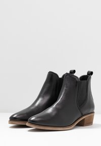 Anna Field - LEATHER CHELSEAS - Korte laarzen - black - 4