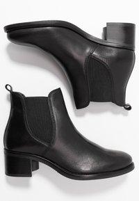 Anna Field - LEATHER BOOTIES - Kotníková obuv - black - 3