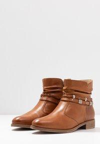 Anna Field - LEATHER BOOTIES - Boots à talons - cognac - 4
