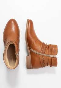 Anna Field - LEATHER BOOTIES - Boots à talons - cognac - 3