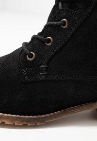 Anna Field - LEATHER BOOTIES - Šněrovací kotníkové boty - black - 2