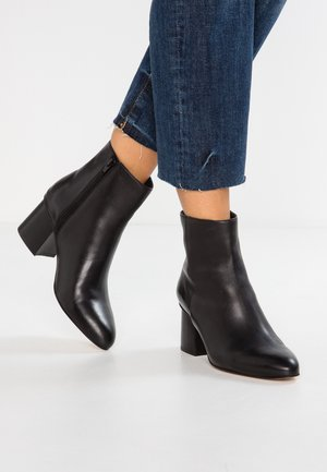 LEATHER BOOTIES  - Botines - black