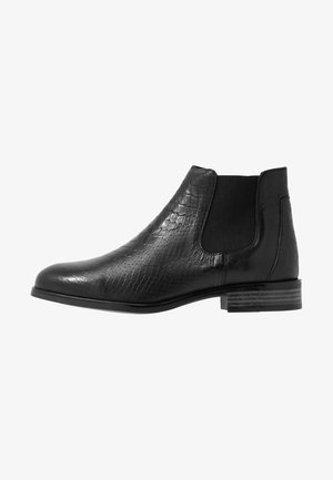 LEATHER CHELSEAS - Korte laarzen - black