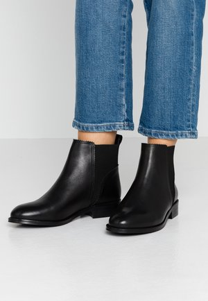LEATHER BOOTIES - Botki - black