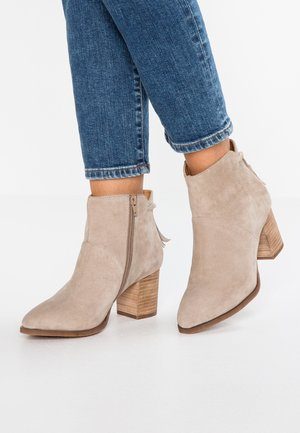 LEATHER CLASSIC ANKLE BOOTS - Bottines - taupe