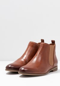 Anna Field - LEATHER BOOTIES - Ankelboots - cognac - 4