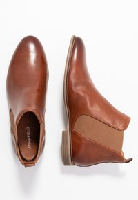 Anna Field - LEATHER BOOTIES - Ankelboots - cognac - 3